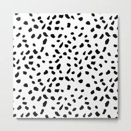 Brush Stroke Dots Metal Print