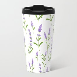 Modern hand painted lilac watercolor lavender floral pattern Travel Mug