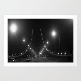 Late Nights on the Bay Bridge Art Print