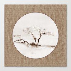 Scots Pine Paper Bag Sepia Canvas Print