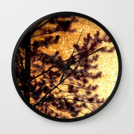 Pine Silhouette at Sunset #decor #society6 Wall Clock