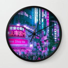 Cyberpunk Tokyo Wall Clock