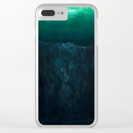The Depth of Phthalo Clear iPhone Case