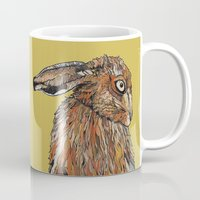 hare Mugs featuring Hare by Louisa Heseltine