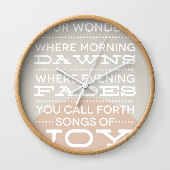 Psalm 65:8 Wall Clock