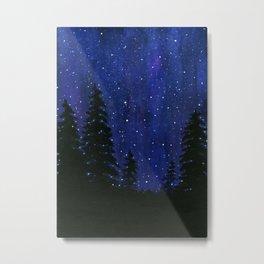 Twinkle, Twinkle, Stars Night Sky Painting Metal Print