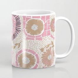Pink & Gold Flowers Coffee Mug