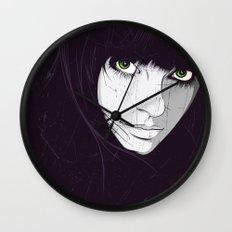 Green Eyes Wall Clock