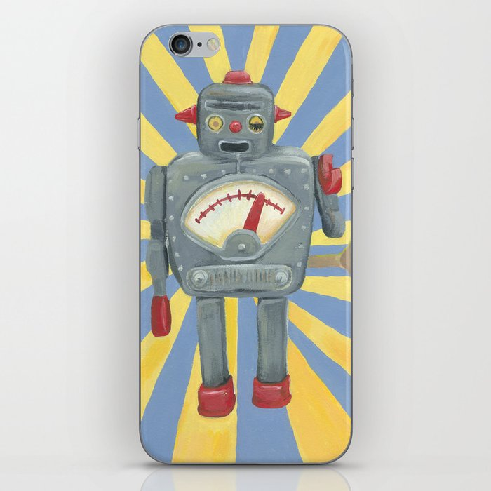 Cute robot toy iPhone Skin