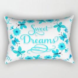 Sweet Dreams - Light Blue Rectangular Pillow