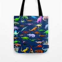 dinosaurs Tote Bags featuring Dinosaurs by Raffaella315