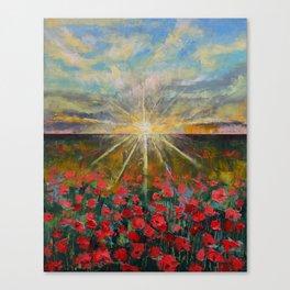 Starlight Poppies Canvas Print
