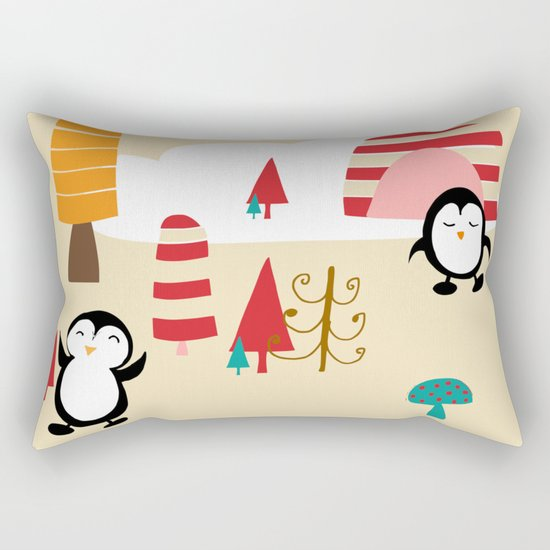 Oriana Penguin Rectangular Pillow