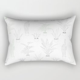 artifical potted plants Rectangular Pillow