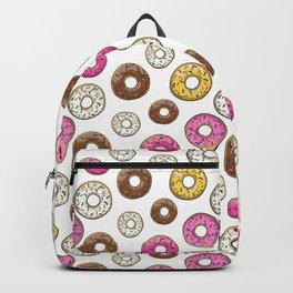Donut Pattern - White Backpack