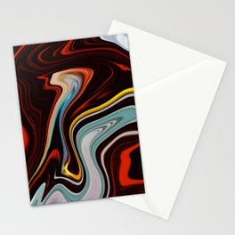 Marble Marbled Abstract Paint LIV Stationery Cards