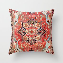 Heriz Azerbaijan Northwest Persian Rug Print Throw Pillow