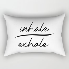 Inhale Exhale. Namaste yoga gift. Meditation. Mindfulness. Gym workout Rectangular Pillow