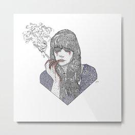 Mia Corvere - Nevernight by Jay Kristoff Metal Print