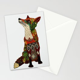 fox love off white Stationery Cards