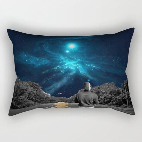 Nebulea and Teddy Rectangular Pillow