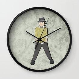 boys formal wear lime plaid Wall Clock