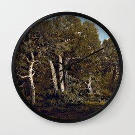 The Great Oaks Of Old Bas-breau -Theodore Rousseau Wall Clock