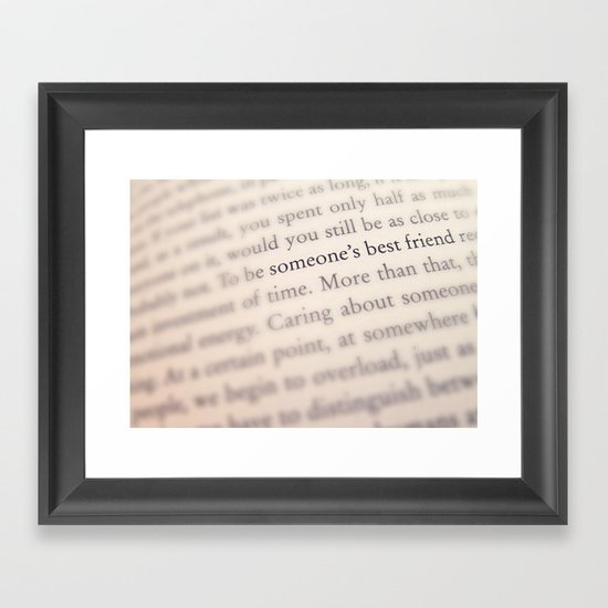 Someone's Best Friend Framed Art Print