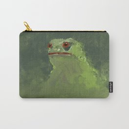 Frog simple illustration texture painting pepe Carry-All Pouch