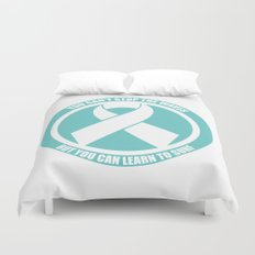 Ride the Waves - Cancer Ribbon Duvet Cover