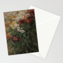 Gustave Caillebotte - Chrysanthemums in the Garden at Petit-Gennevilliers (1893) Stationery Cards