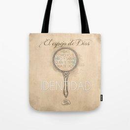 Identidad en Jesus Tote Bag