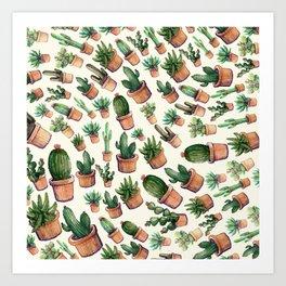Wave Cactus Art Print