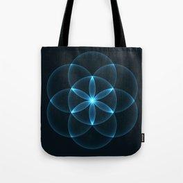 Glowing Flower of Life Tote Bag