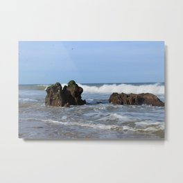Beach Rocks-Eastham Metal Print