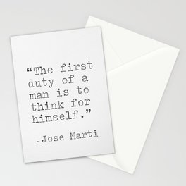 Jose Marti quote Stationery Cards