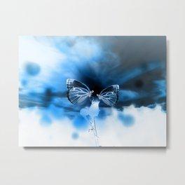 Butterfly Apocalypse Fantasy Planet Metal Print
