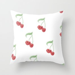 Cherry Print Throw Pillow