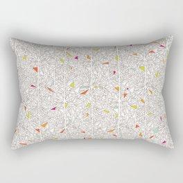 Little Triangles Pattern Rectangular Pillow