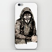 gangster iPhone & iPod Skins featuring Anonymous Gangster by 13 Styx