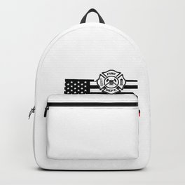 Connecticut Firefighter Shield Thin Red Line Flag Backpack