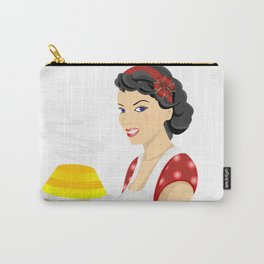 Beautiful woman with cake Carry-All Pouch