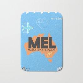 MEL Melbourne airport code Bath Mat