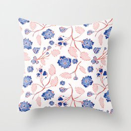 Trendy Indian Lace Floral Throw Pillow
