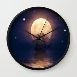 Sailing Into The Night Wall Clock