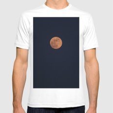 Moon Face Mens Fitted Tee MEDIUM White