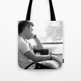 Man by The Window Tote Bag