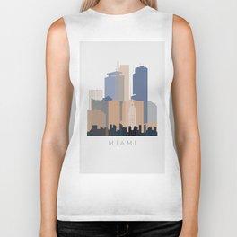 Miami vertical skyline design Biker Tank