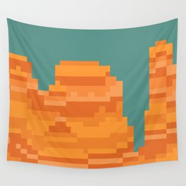 pixel grand canyon Wall Tapestry