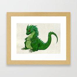 Fat Dragon Framed Art Print
